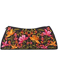 Soulful Threads Hand Clutch In Cotton Silk Fabric With Elegant Embroidery - B01MSOZK3J