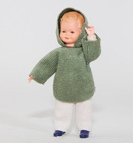 Caco 20179400 Puppe Junge 7 cm Kapuzenpulli Biegepuppe