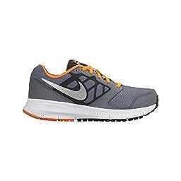 Nike Boy\'s Downshifter 6 Running Shoe Cool Grey/Total Orange.White/Metallic Silver 4.5Y