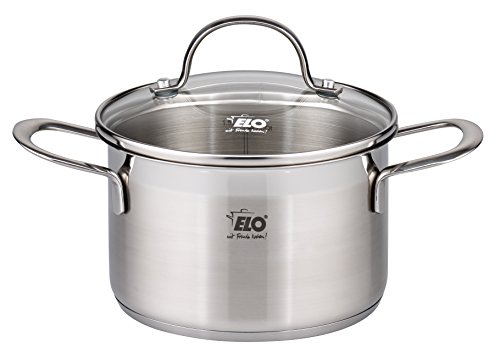 ELO 9-Piece Collection 18/10 Stainless Steel Kitchen Induction Cookware Pots and Pans Set with Shock Resistant Glass Lids and Integrated Measuring Scale