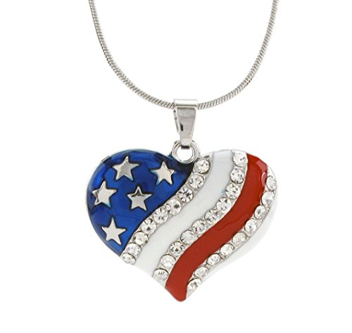DaisyJewel-Crystal-American-Heart-Flag-Pendant-Necklace