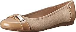 AK Anne Klein Sport Women\'s Able Ballet Flat, Natural/Multi, 9 M US