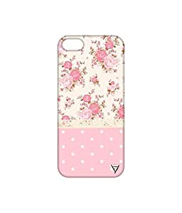 Vogueshell Dotted Flower Pattern Printed Symmetry PRO Series Hard Back Case for Apple iPhone SE