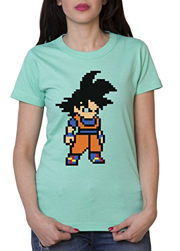 Goku-Bit-Camiseta-de-mujer-Dragon-Master-Son-Ball-Vegeta-Turtle-Roshi-Db-Farbe2MentaGre2XXL