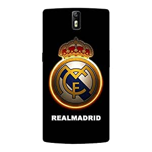 Abhivyakti Sports Realmadrid Hard Back Case Cover For One Plus One