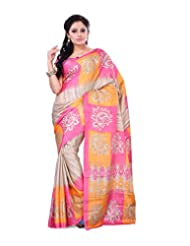 Surat Tex Multicolor Crepe Daily Wear Printed Sarees With Blouse Piece-E536SE1005AAS