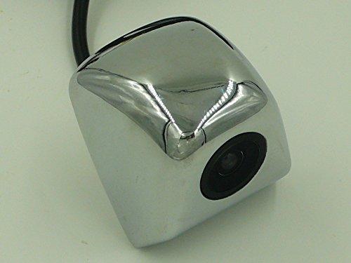 簡単接続 小型 CCD バックカメラ フロントカメラ リヤカメラ ナンバープレート バックドア取付可能 防水IP67 乗用車 ミニバン ワゴン (01 シルバー)