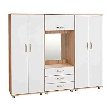 Ideal Furniture Regal Fitment with Gloss, Cream