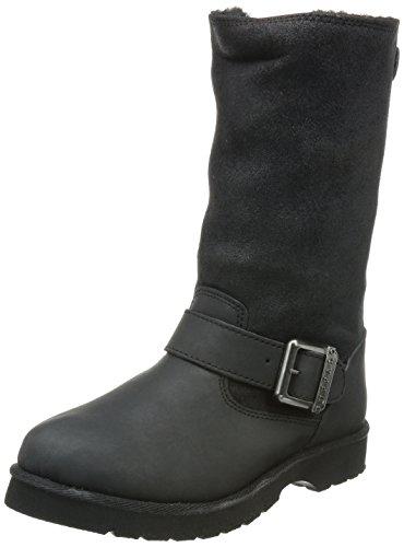 Buffalo12844 ACTION NUBUCK HEDOSA - Scarponi da neve imbottiti, a mezza gamba Donna , Nero (Schwarz (BLACK723)), 37 EU