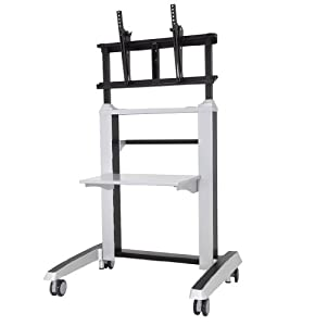 posturedesks s 950 heavy duty mobile tv stand displays weight capacity up to 176. Black Bedroom Furniture Sets. Home Design Ideas
