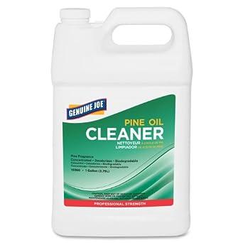 Genuine Joe GJO10360 Concentrated Pine Fragrance Liquid Solution Cleaner, 1 gallon Bottle, White (Case of 2)