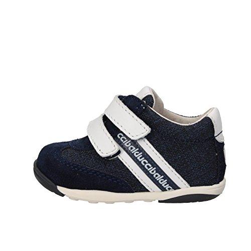 BALDUCCI sneakers bambino 18 EU blu bianco tela camoscio pelle AG931-B