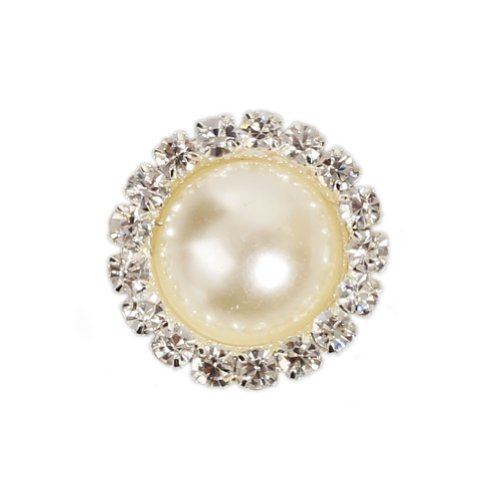 Buy Outop 10 Pcs Crystal Pearl Button,metal Rhinestone Buttons