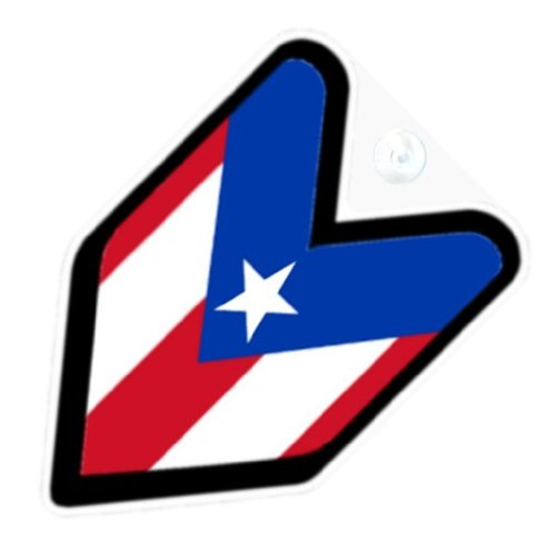 Jeep Logo Decal with Puerto Rico Flag