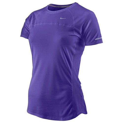 Nike Lady Dri-Fit UV Miler Short Sleeve T-Shirt