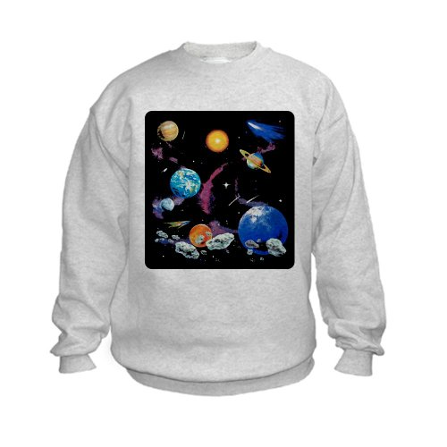 Artsmith, Inc. Kids Sweatshirt Solar System And Asteroids - Large (14-16)