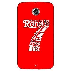 Jugaaduu Manchester United Ronaldo Back Cover Case For Google Nexus 6
