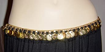 Gold Coin Belt with a Single Row of Coins