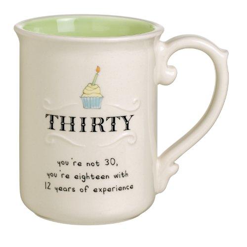 Grasslands Road Sweet Soiree 13-Ounce, 30 Birthday Mug, Set Of 4