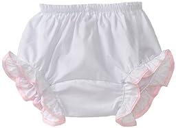 Mud Pie Baby-girls Newborn Heart Bloomers, Pink/White, 12-18 Months