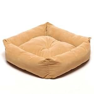 CPC Microfiber 24-Inch Square Pet Bed, Caramel