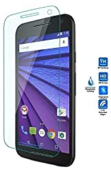FAD-E Toughened Premium HD Tempered Glass Screen Protector (9H & 2.5D Curved) for Moto G 3rd Generation / Moto G Turbo Edition