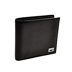 Gucci 252080 Gucci Hoopers Bifold Black Leather Men's Wallet