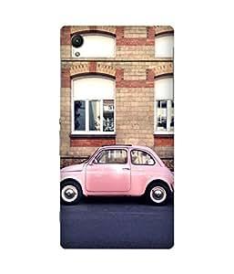 Pink Fiat Sony Xperia Z1 Case