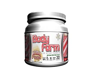 Bodyform Thermogenic Fat Burning Energy Drink - Gourmet Latte Series (30 Serving, White Chocolate Peppermint Mocha)