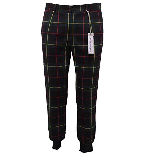 6693Q pantalone uomo DANIELE ALESSANDRINI GREY multicolor pant trouser men [46]