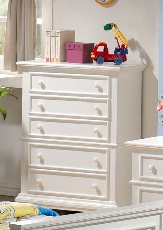 Storage Chest with Shutter Design in White Finish
