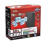 東芝 USB3.0接続 外付けハードディスク 3.0TB(ブラック)TOSHIBA CANVIO DESK HD-EB30TK