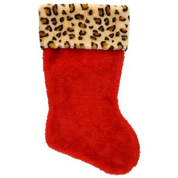 NEW Hot SELLER Toddler Kids Teens Christmas Plush 16 in. Stocking Holiday Red Santa Stockings Leopard (Giant Fireplace compare prices)