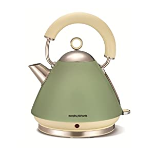 Morphy Richards 102001 Accents Sage Traditional Kettle, 1.5 Litre, 3000 Watt, Green