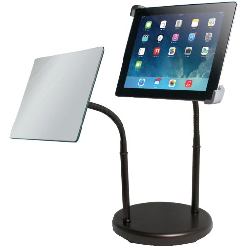 Cta Digital Universal Gooseneck Tabletop Stand With Mirror For Ipad And Tablets (Pad-Gtsm) front-951941