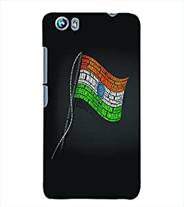 Fuson 3D Printed Indian Flag Designer Back Case Cover for Micromax Canvas Fire 4 A107 - D608