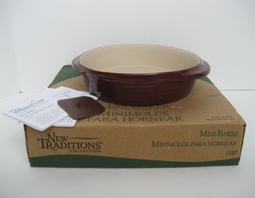 The Pampered Chef New Traditions Mini-Baker - Cranberry