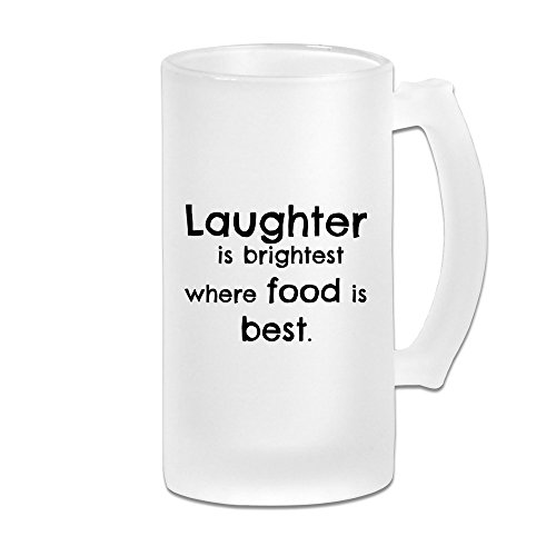 HNN Laughter Is Brightest Where Food Is Best Scrub Beer Glasses Mugs