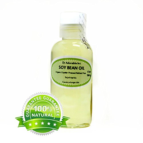 Soybean OIL Pure SOY OIL Cold Pressed Organic 4 Oz