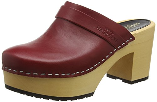 Swedish HasbeensLouise - Zoccoli donna, Rosso (Rosso (Burgundy)), 41