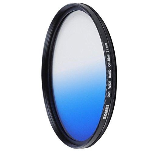 DELLT- Ultra-mince circulaire Mirror Gradient Bleu 55/58/67/72 / 77mm SLR Filtre Camera Lens ( taille : 67mm )