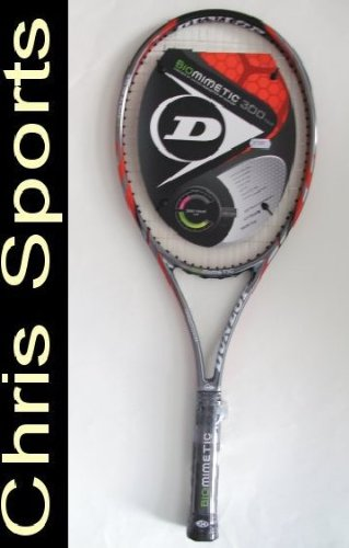 Dunlop Biomimetic 300 Tour Tennis Racket - Red/Orange, G4 Grip