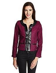 The Vanca Women's Wool Blouson Jacket (JKF2658_Fuchsia_Small)