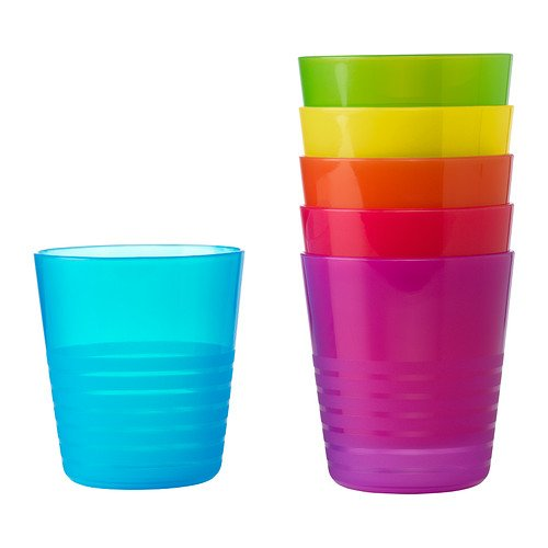 Ikea Kalas 101.929.56 BPA-Free Tumbler, Assorted Colors, 6-Pack (Plastic Cups Microwave Safe compare prices)