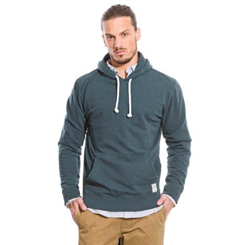 Springfield Men's Long-sleeved Hooded Sweatshirt with Kangaroo Pockets, XL, orange