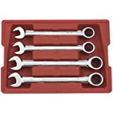 GearWrench 9309 4 Piece SAE Large Size Combination Ratcheting Wrench Set