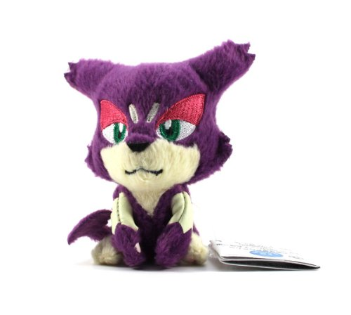 "Pokemon Best Wishes Black And White Banpresto Plush Ball Chain - 47331 - 3.5"" Choroneko/Purrloin - 1"