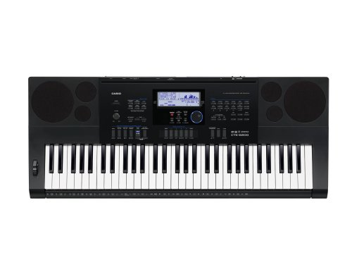 Casio Ctk6200 61-Key Personal Keyboard With Power Supply