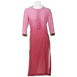 Moh Womens Cotton Wrap Kurta (M_8_Spk64_L_Pink)