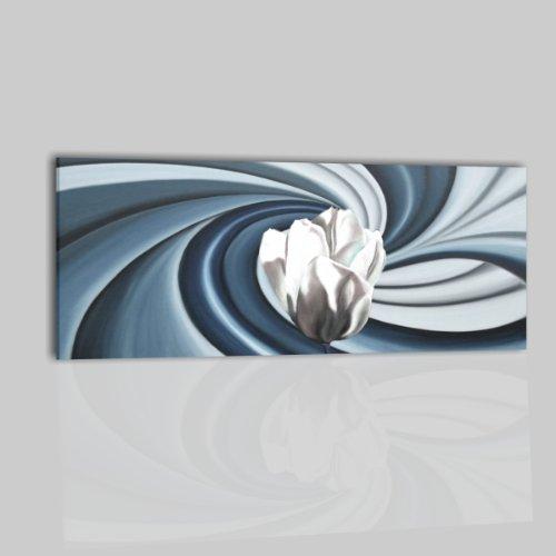 Quadri moderni olio su tela dipinti a mano fiori bianco for Amazon quadri